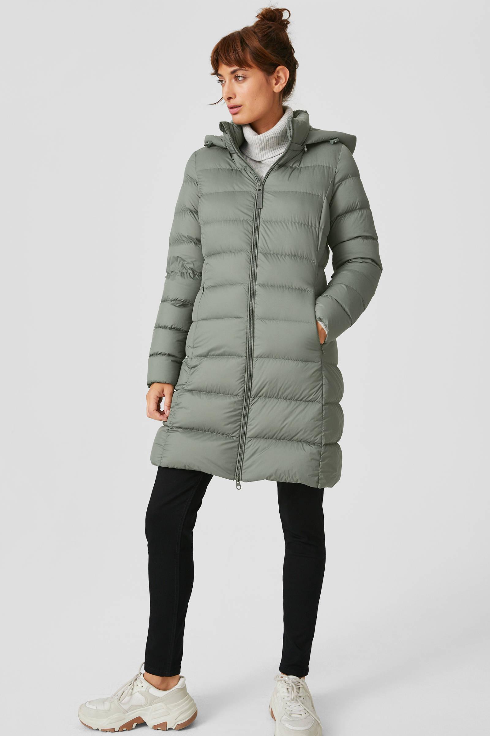 C&A The Outerwear gewatteerde jas groen | wehkamp