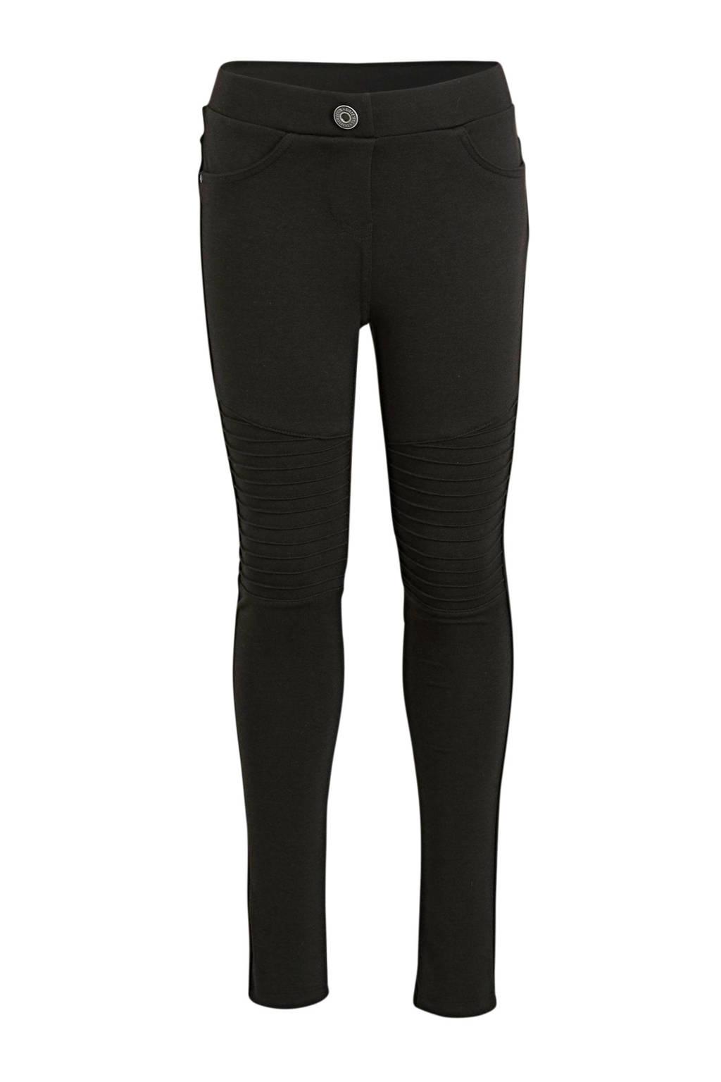 C&A Here & There broek met textuur zwart, Zwart