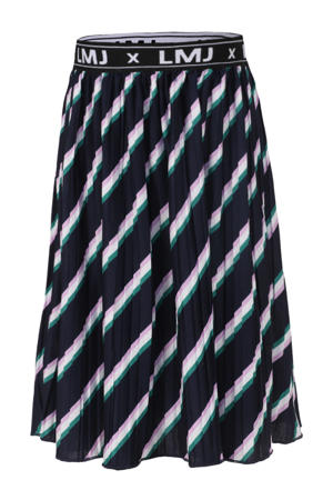 gestreepte rok donkerblauw/roze/groen