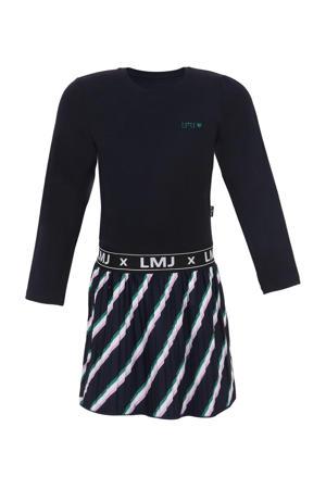 gestreepte jurk donkerblauw