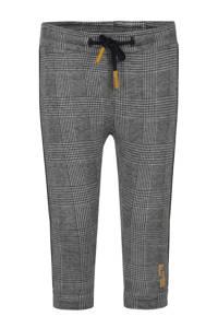 Beebielove geruite skinny broek met zijstreep zwart/wit, Zwart/wit
