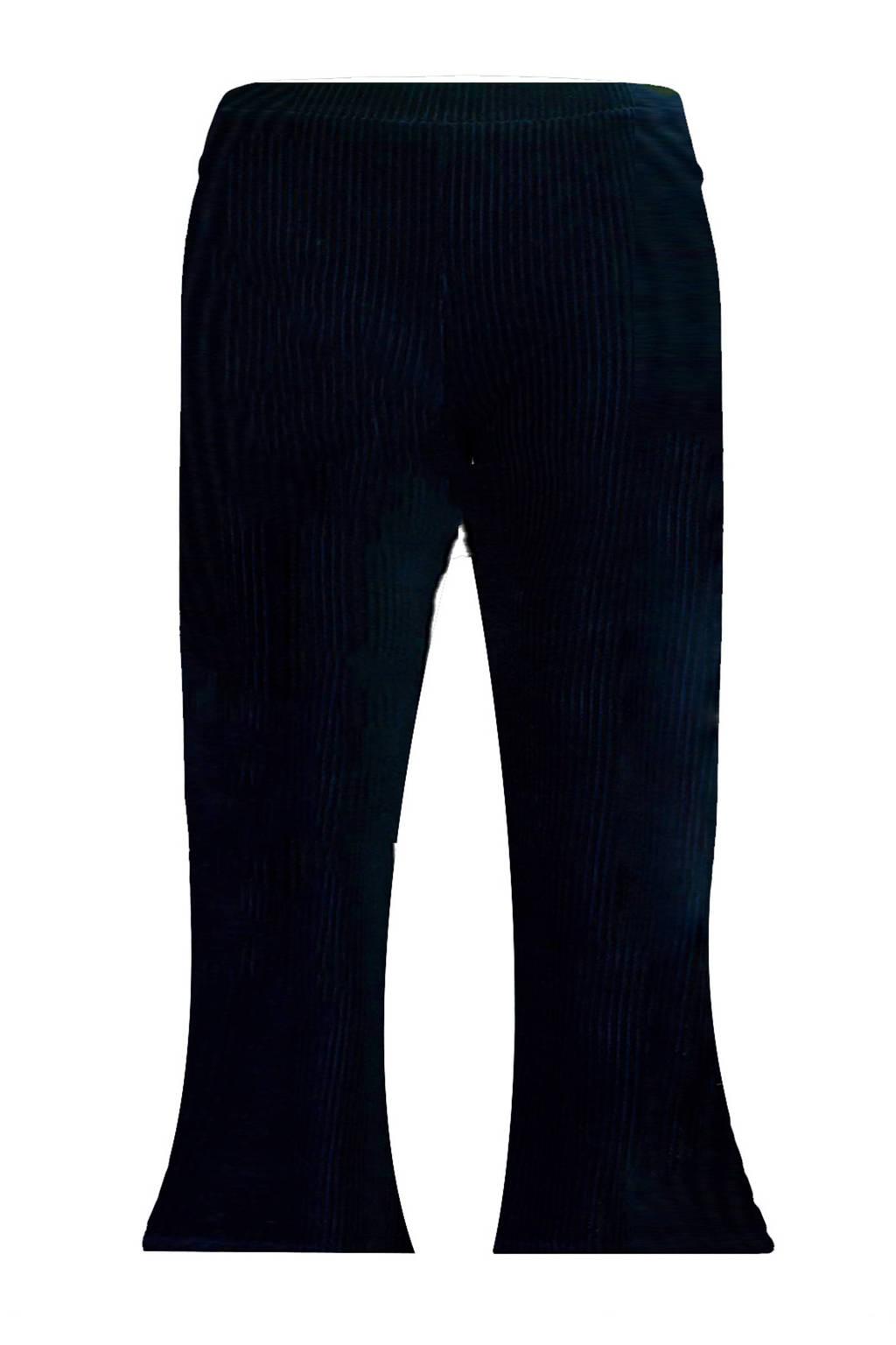 Beebielove corduroy flared broek donkerblauw, Donkerblauw