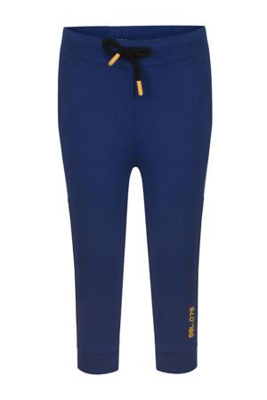 regular fit broek blauw/donkerblauw/wit