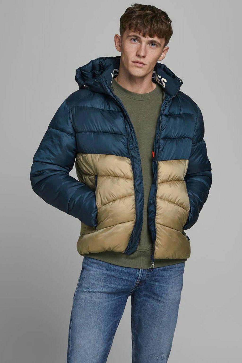 JACK & JONES ORIGINALS jas donkerblauw/beige, Donkerblauw/Beige