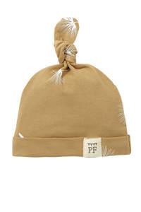 Petit Filippe baby muts Dandelion beige/wit, beige/off white