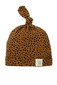 Petit Filippe baby muts Cheetah brique/zwart, Brique/zwart