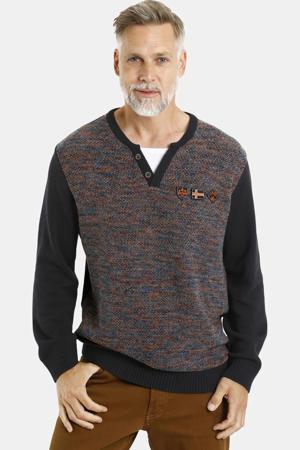 gemêleerde trui Plus Size Hannu donkerblauw