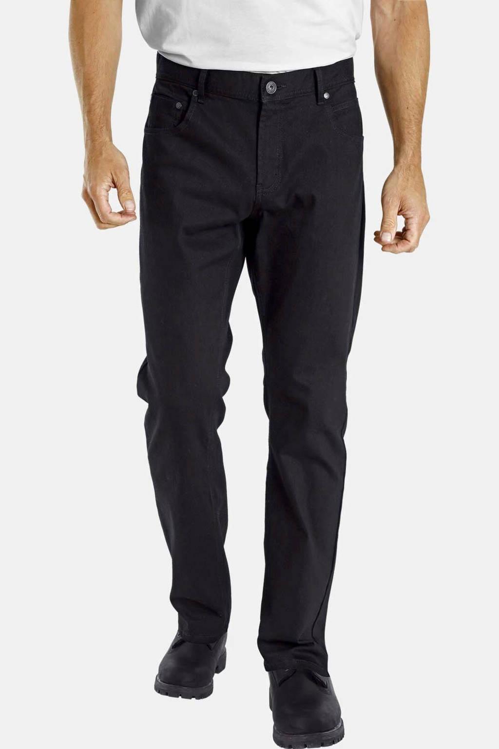 Jan Vanderstorm loose fit broek Plus Size EINAR zwart, Zwart