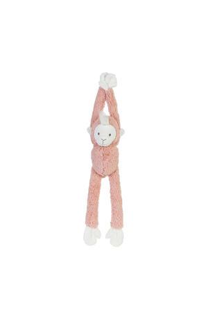 Peach Hanging Monkey Musical knuffel 41 cm