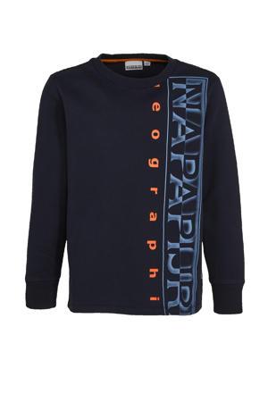 sweater Badyr met logo donkerblauw