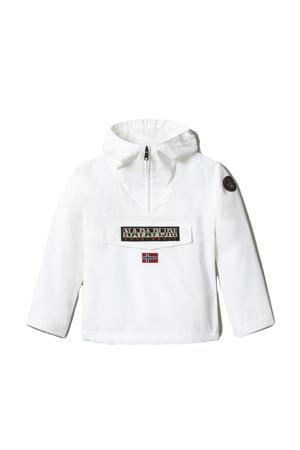unisex anorak Rainforest met logo wit
