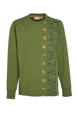 sweater Badyr met logo groen