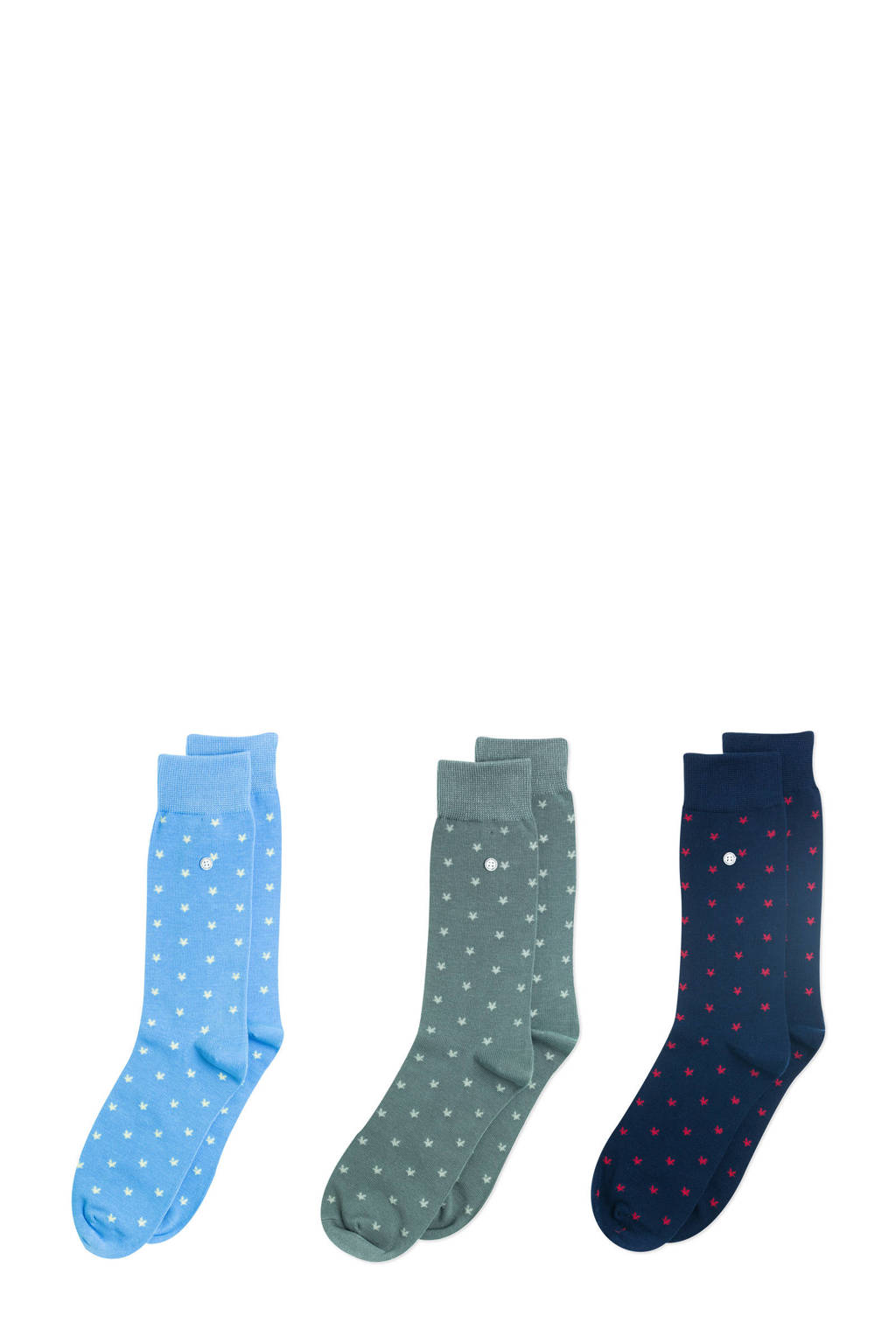 Alfredo Gonzales giftbox sokken- set van 3 Stars multi, Blauw/groen/donkerblauw