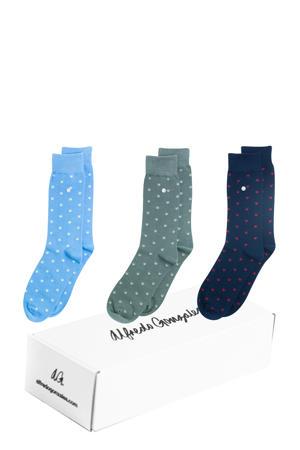 giftbox sokken- set van 3 Stars multi