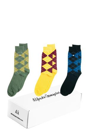 giftbox sokken - set van 3 Wallstreet multi