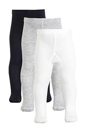 maillot - set van 3 wit/grijs/donkerblauw