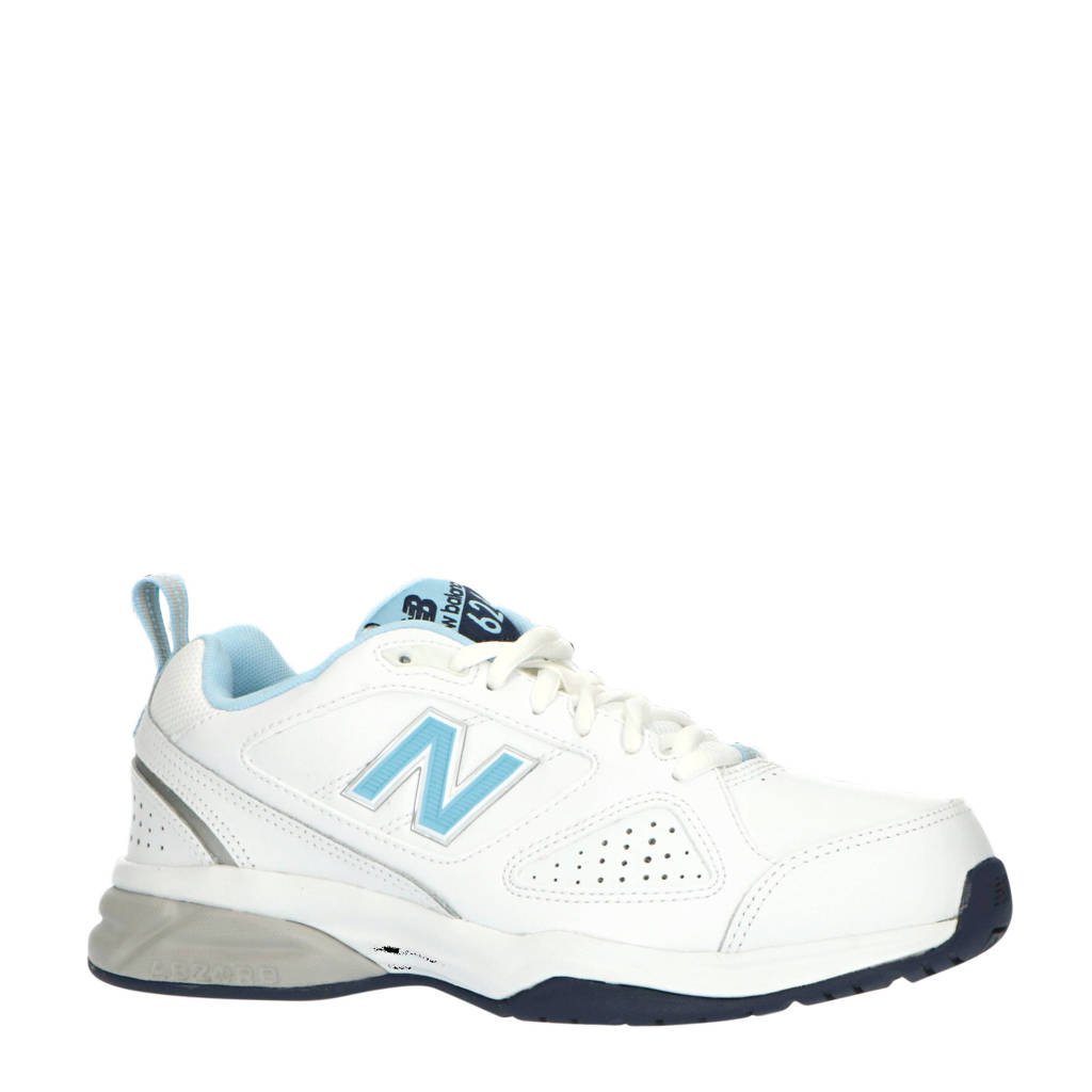New Balance 624  sneakers wit/donkerblauw, Wit/donkerblauw