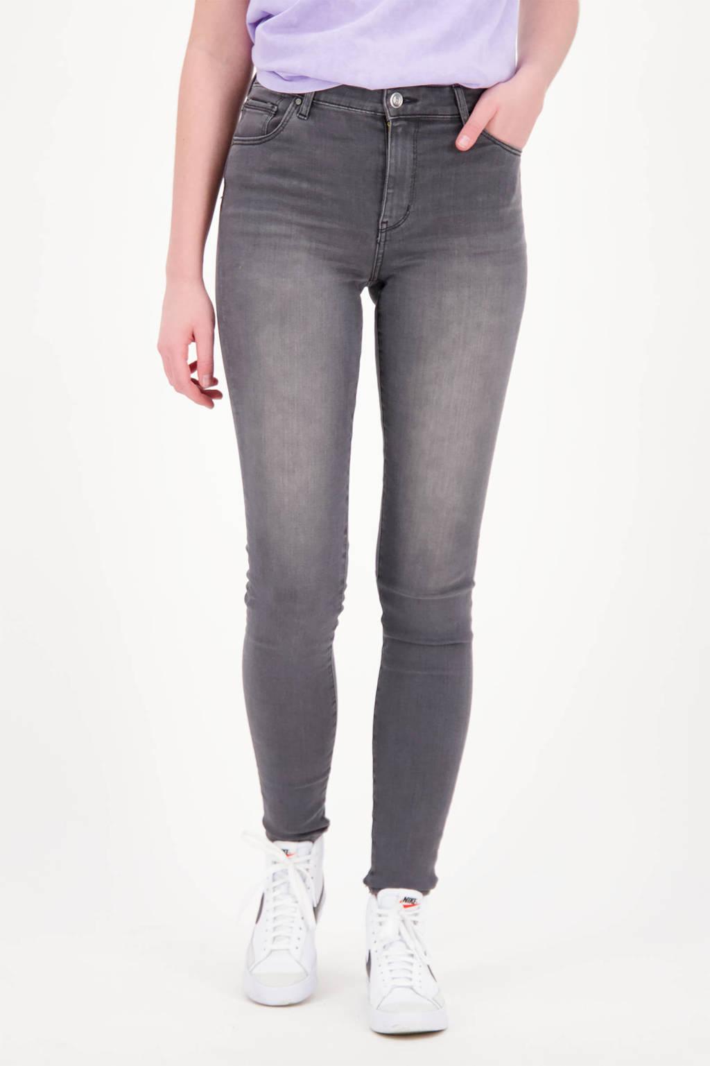 Raizzed high waist super skinny jeans Blossom dark grey stone, Dark grey stone