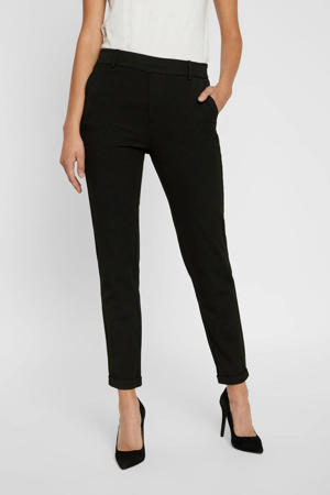 slim fit pantalon Maya zwart