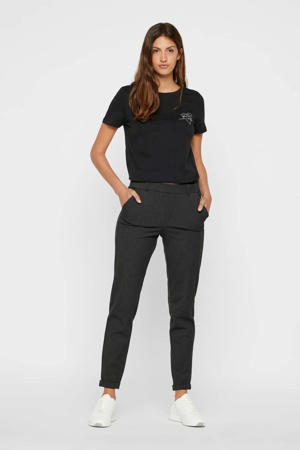slim fit pantalon Maya donkergrijs