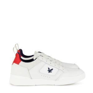 Gilzean  leren sneakers wit/rood
