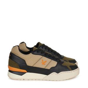 Severin  leren sneakers zwart/bruin