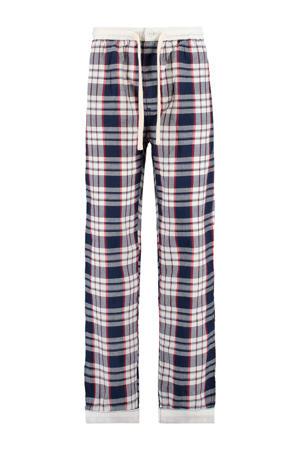 pyjamabroek donkerblauw/wit/rood