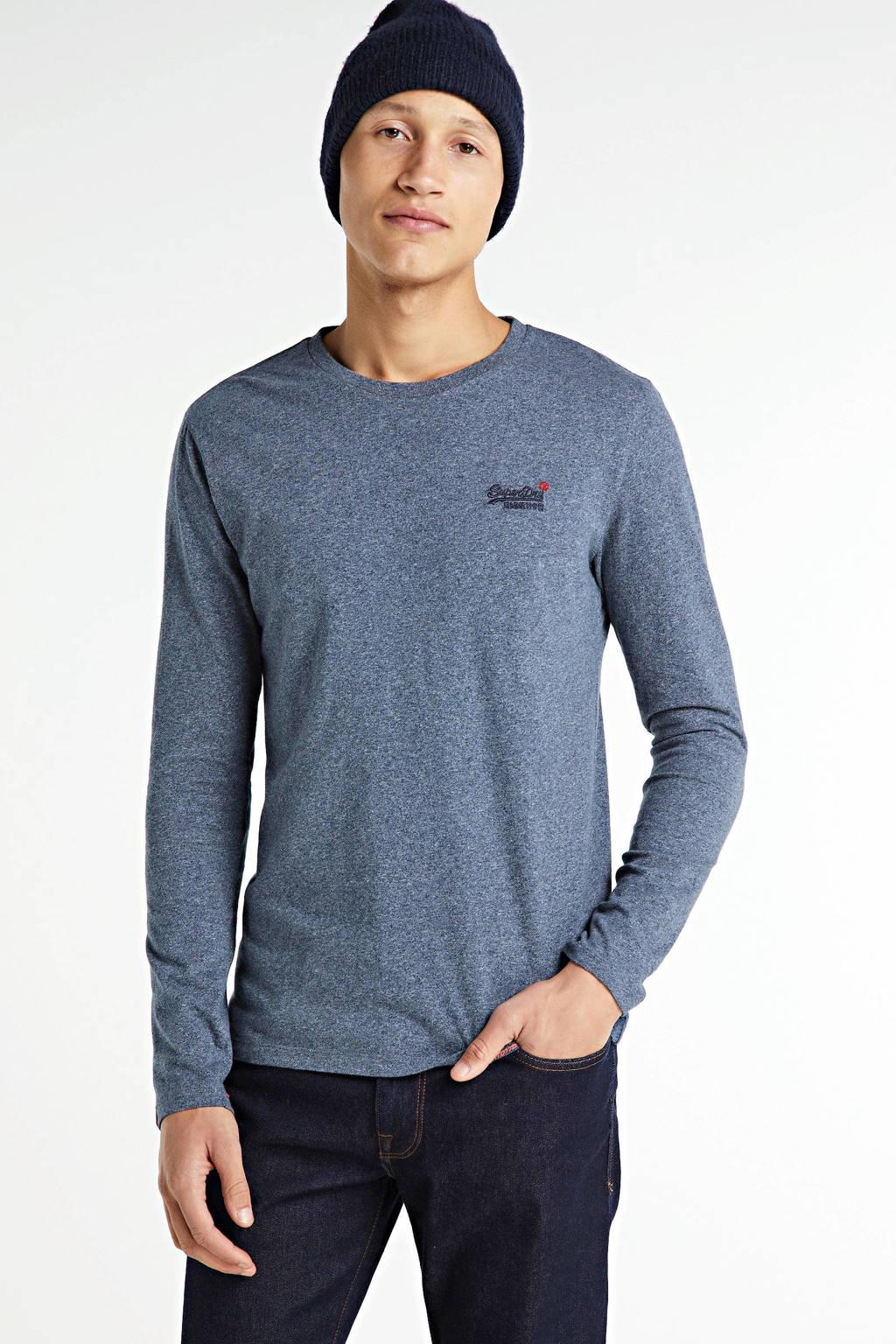 Superdry gemêleerd T-shirt blauw, Blauw