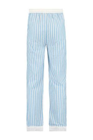 pyjamabroek wit/lichtblauw