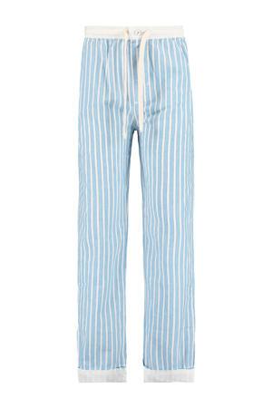 gestreepte pyjamabroek lichtblauw/wit