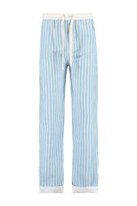 America Today Junior pyjamabroek wit/lichtblauw, Lichtblauw/wit