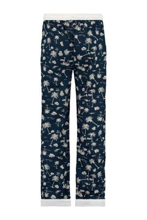 pyjamabroek donkerblauw/wit