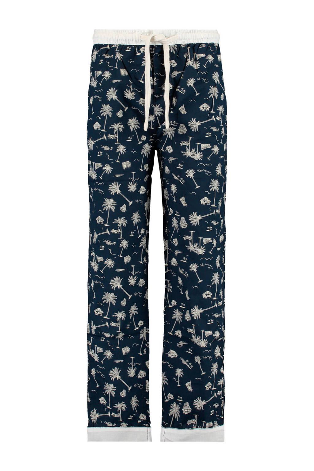 America Today Junior pyjamabroek donkerblauw/wit, Donkerblauw/wit