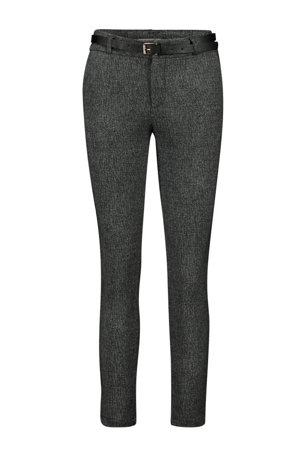 Cassis gemêleerde broek grijs melange/zwart, Grijs melange/zwart