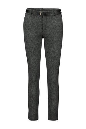 gemêleerde broek grijs melange/zwart