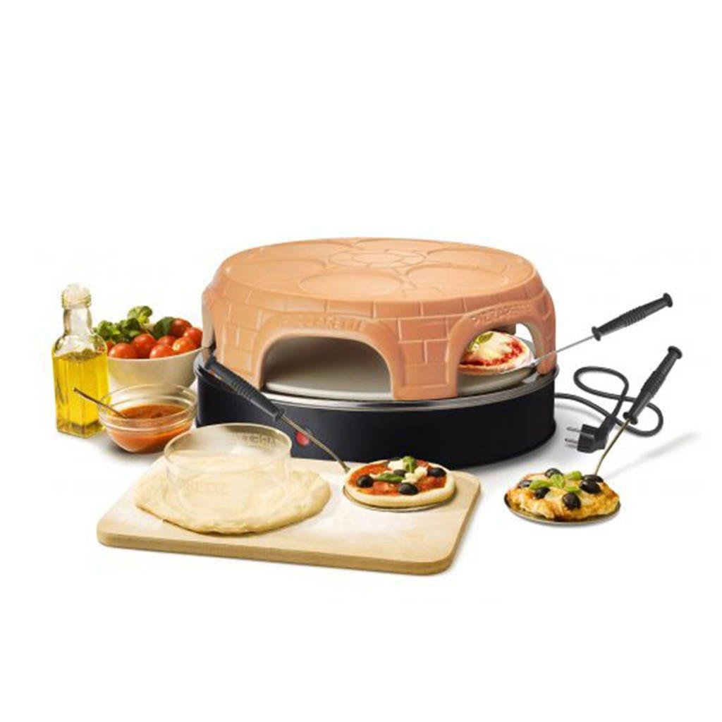 Emerio Pre Bake Pizzarette (6 personen), Zwart, Oranje