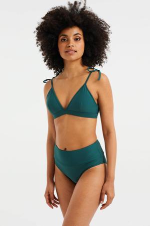 omslag bikinibroekje met textuur groen