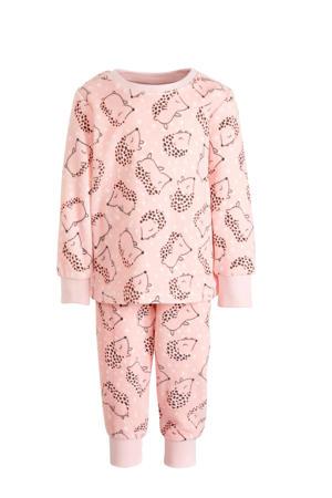 pyjama roze/wit/bruin