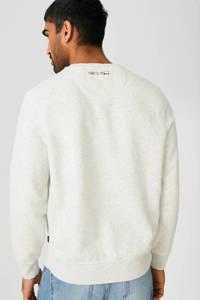 C&A sweater met printopdruk ecru melange