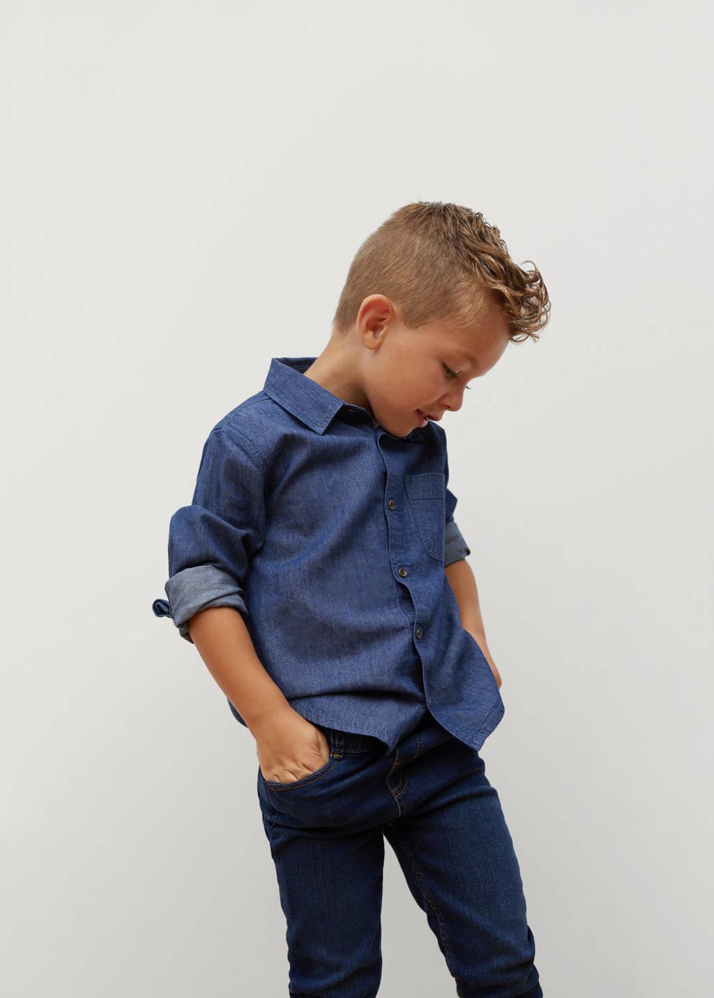 Mango Kids slim fit jeans donkerblauw, Donkerblauw