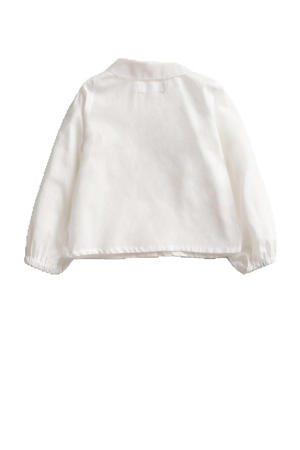baby blouse van biologisch katoen off white