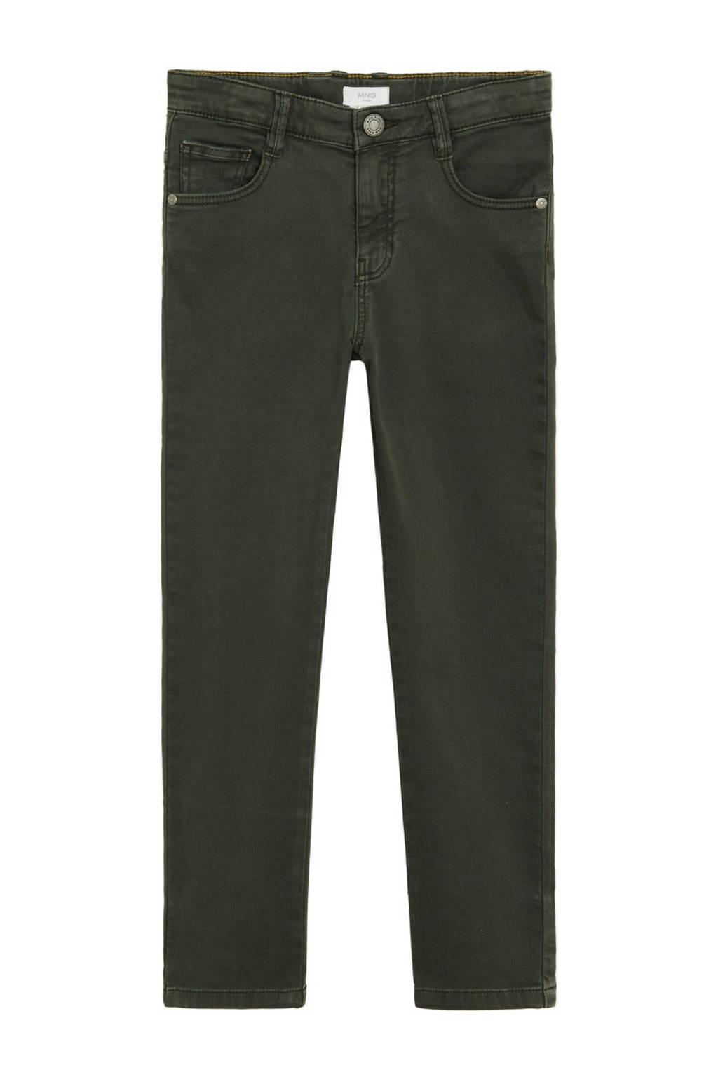 Mango Kids straight fit jeans khakigroen, Khakigroen