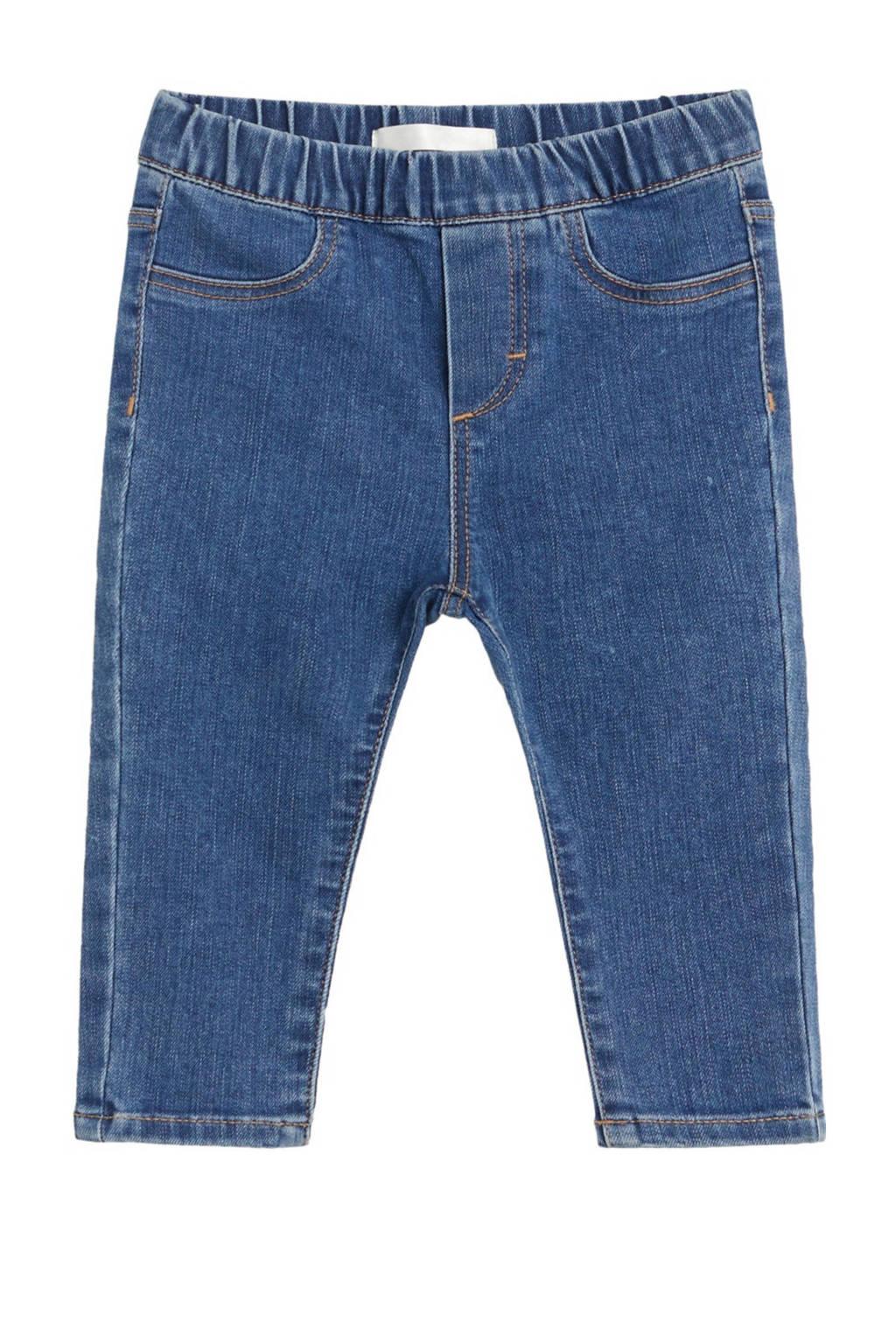 Mango Kids straight fit jeans blauw, Blauw
