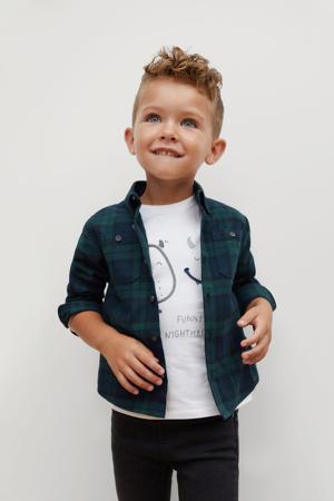 geruit overhemd marine/donkergroen