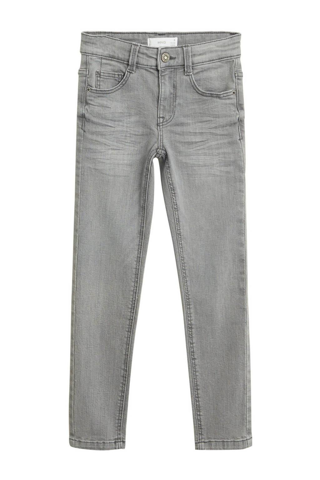 Mango Kids slim fit jeans grijs, Grijs