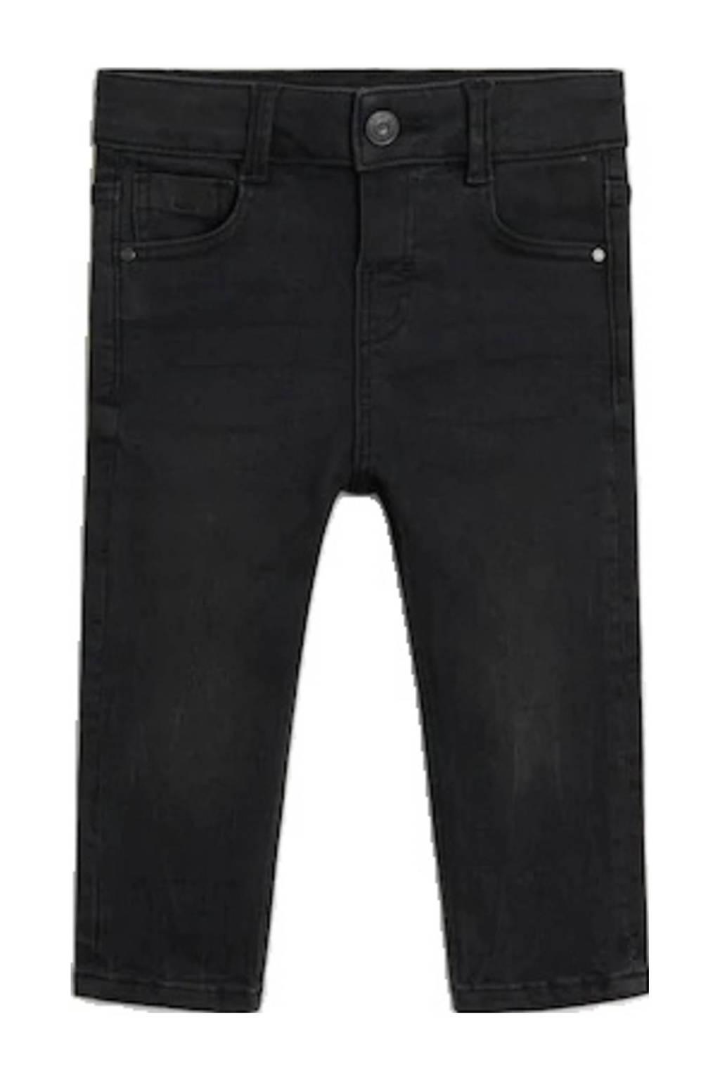 Mango Kids slim fit jeans zwart, Zwart