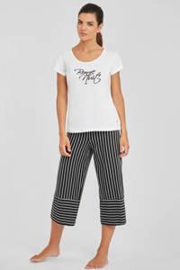s.Oliver pyjamatop met printopdruk wit, Wit
