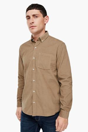 regular fit overhemd camel