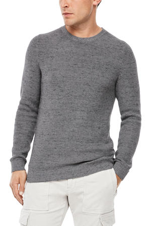 gemêleerde trui grijs