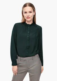 Q/S designed by blouse met plooien donkergroen, Donkergroen